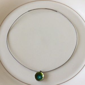 Jewelry - Sterling and enamel necklace